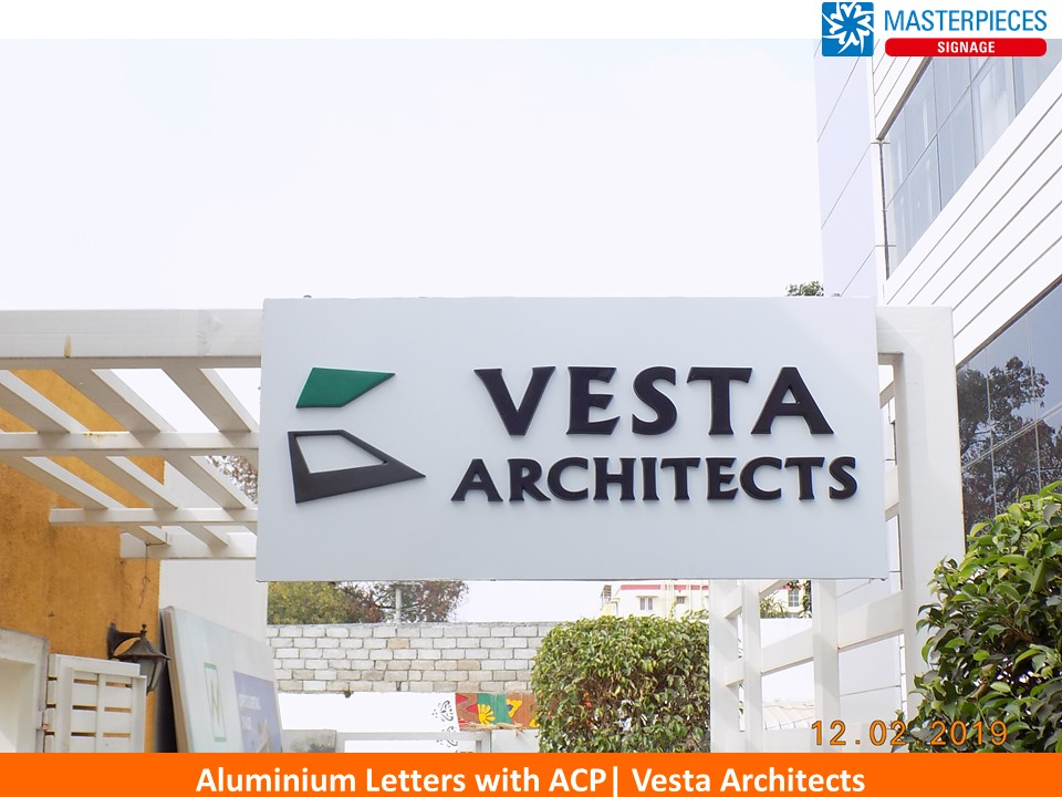 ACP Sign with Aluminium Letters - Vesta architects