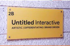 Acrylic sandwich model sign board