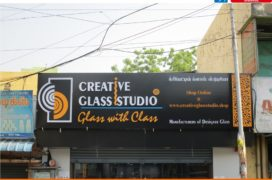 Liquid acrylic letters with ACP box-up base for classic studio