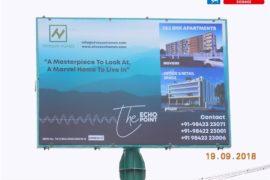 Nivasan Homes Unipole Sign close