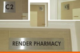 Sigange, Stainless Steel Signs, Render Clinic