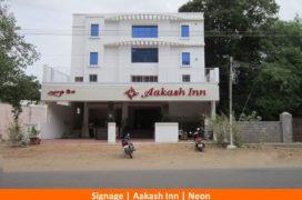 Signage, AAKash Inn, Neon