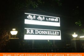 Signage, ACP with Embossed Letters _ LED Lightining , RR Donnelley