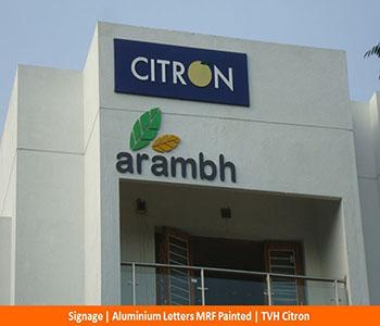 Signage, ALuminium Letters MRF painted, TVH Citron