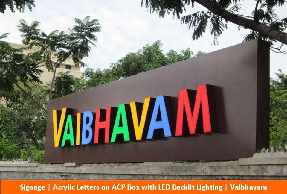 Signage, Acrylic Letters on ACP box with LED Backlit Lightinning