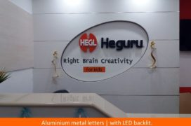 Signage, Aluminium Metal Letters with LED backlit