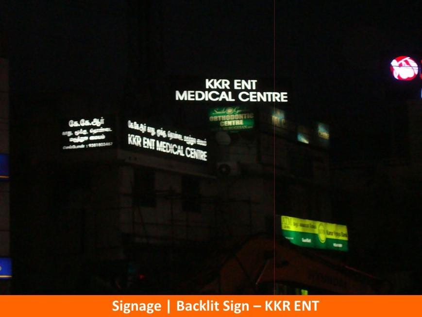 Signage , Backlit Sign, KKR ENT -