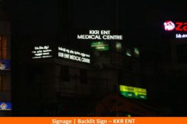 Signage , Backlit Sign, KKR ENT