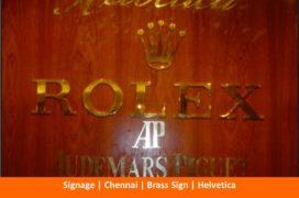 Signage, Brass Sign, Helvetica