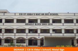 Signage, CSI St Ebbas's School, Metal Sign