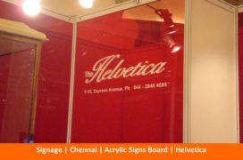 Signage , Chennai, Acrylic Sign, Helvetica