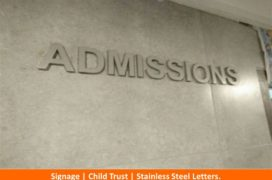 Signage, Child Trust, Stainless Steel Letters