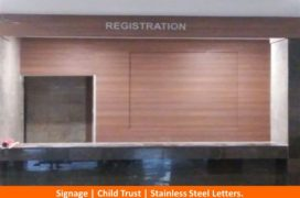 Signage, Child Trust, Stainless Steel Letters (2)