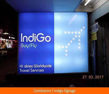 Signage, Coimbatore , Indigo , Glow Sign