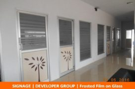 Signage, Developer Group, Frosted Film on Glass