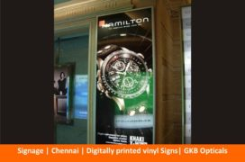 Signage , Digitally printed vinyl Signs, GKB Opticals