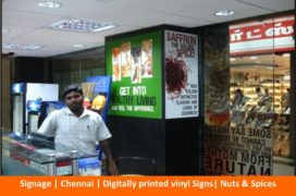 Signage , Digitally printed vinyl Signs, Nuts _ Spices