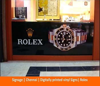 Signage , Digitally printed vinyl Signs, Rolex