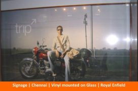 Signage , Digitally printed vinyl Signs, Royal Enfield