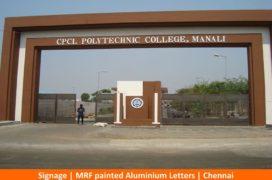 Signage, MRF painted ALuminium Letters, Chennai