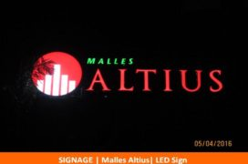 Signage, Malles Altius, LED Sign