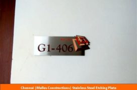 Signage, Malles Constructions , Stainless Steel Etching Plate
