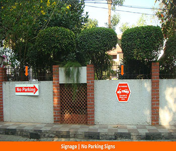 Signage, No Parking Signs