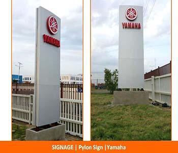 Signage, Pylon Sign, Yamaha