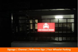 Signage, Reflective Sign, Four Wheeler Parking