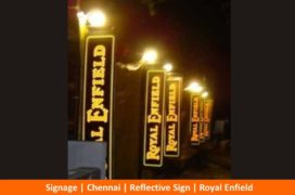 Signage, Reflective Sign, Royal Enfield