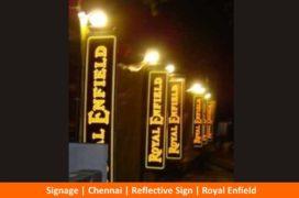 Signage, Reflective Sign, Royal Enfield