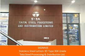 Signage, Stainless Steel Letters, TATA