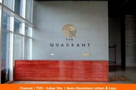 Signage, TVH - Adyar Site, Green Aluminium Letters _ Logo