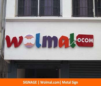 Signage, Wolmal.com, Metal Sign
