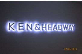 Stainless Steel Letters with White LED
