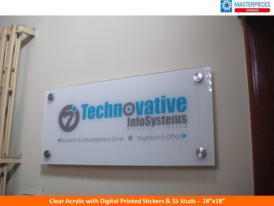 Acrylic Sign Boards Letters Name Board Manufacturers Chennai