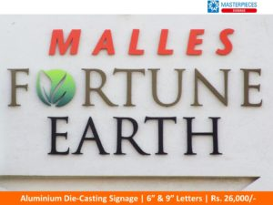 Aluminium die casting letters - Builders | Real Estate