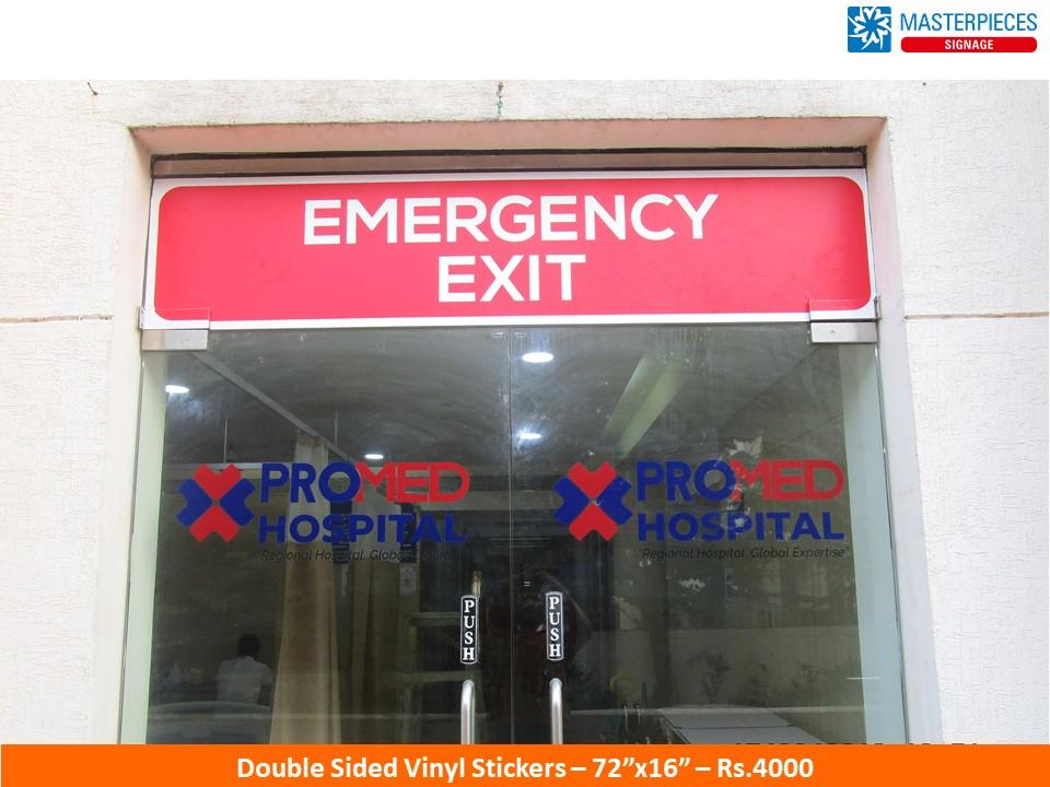 Emergency - Vinyl Stickers