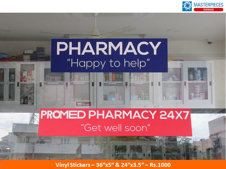 Pharmacy - Vinyl Stickers