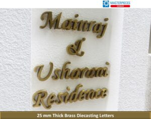 Brass Diecasting Letters
