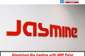 Aluminium die casting with MRF Paint