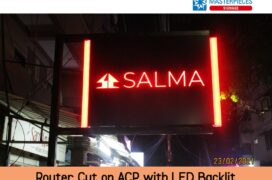 ACP Router Cut with LED Backlit